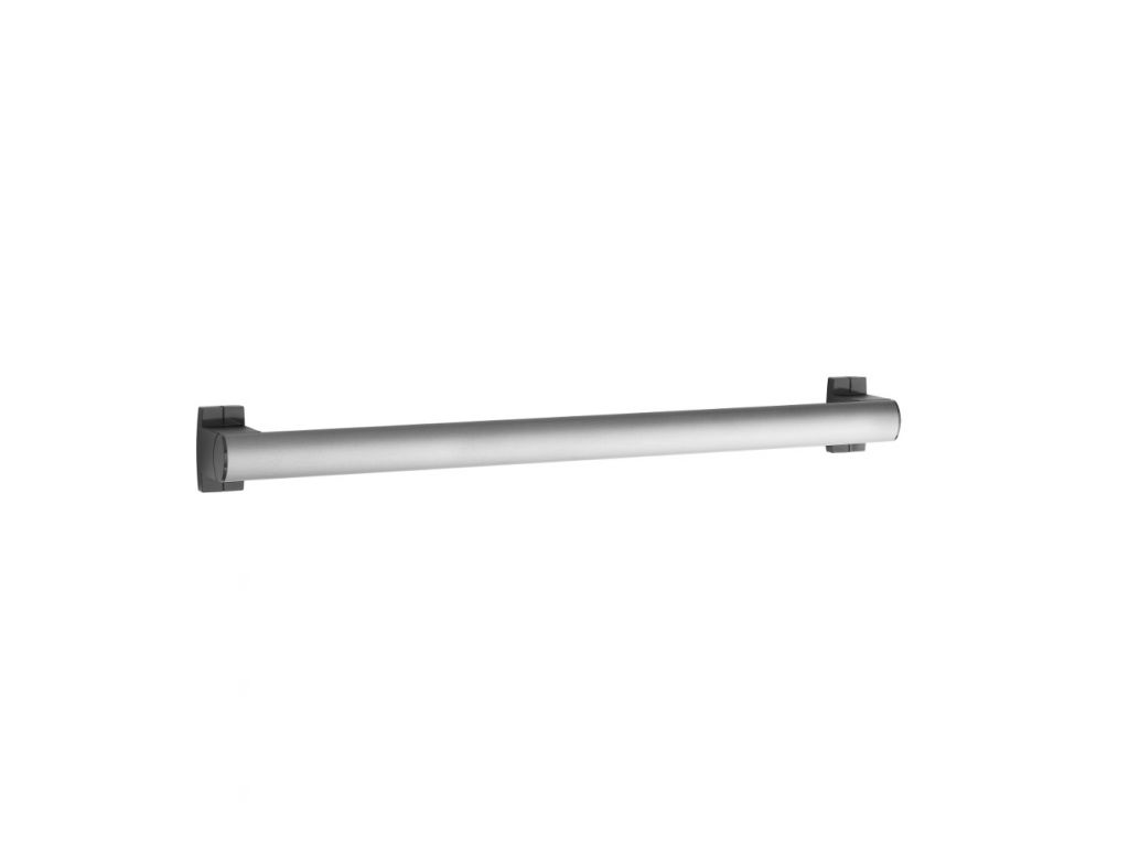 barre droite 600 mm design15 tube elliptique aluminium epoxy gris mat. Black Bedroom Furniture Sets. Home Design Ideas