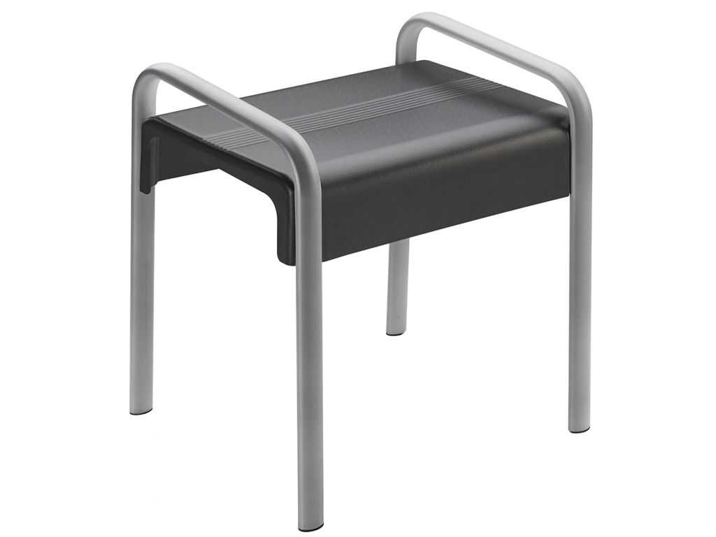 tabouret de douche design15 gris anthracite. Black Bedroom Furniture Sets. Home Design Ideas