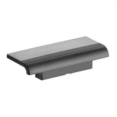 tablette de douche repose pied design15 gris anthracite. Black Bedroom Furniture Sets. Home Design Ideas
