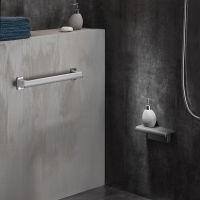 Siège de douche Design15 + tablette, Gris anthracite