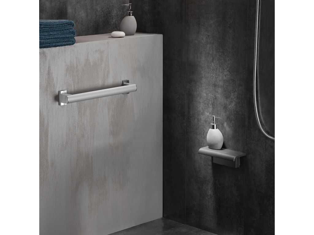 si ge de douche design15 tablette gris anthracite. Black Bedroom Furniture Sets. Home Design Ideas