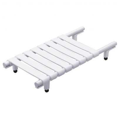 Planche de bain, 330 x 650 x 230 mm, Aluminium Epoxy Blanc, Ø 30 mm