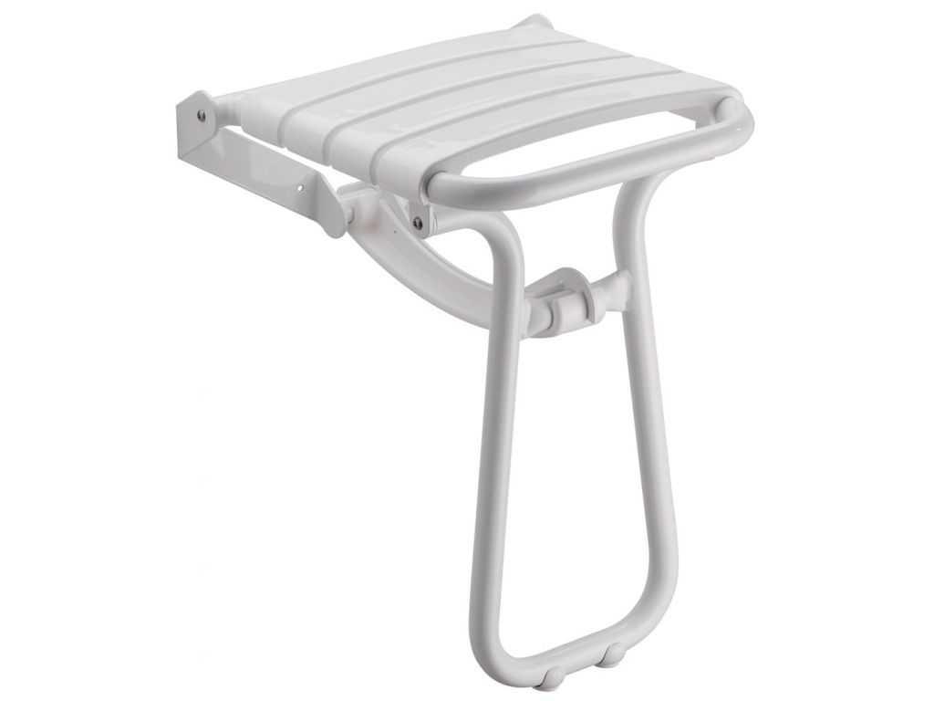 Asiento de ducha plegable nuevo modelo aluminio blanco for Asiento plegable ducha