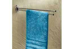 Porte-serviettes, 440 x 70 cm, Acier Chromé, Ø 12 mm