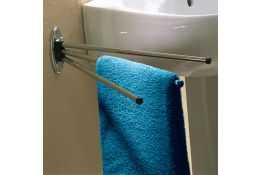 Porte-serviettes, 440 x 11 cm, Acier Chromé, Ø 12 mm