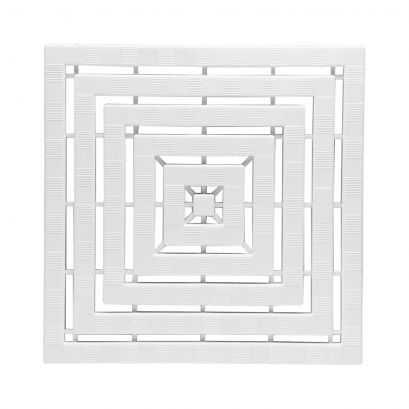 Caillebotis, 500 x 500 x 25 mm, Plastique Blanc