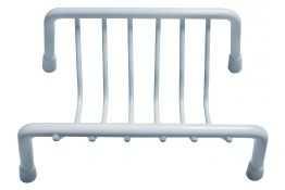 Porte-savon, 130 x 80 x 60 mm, Acier Epoxy Blanc, Ø 5 mm