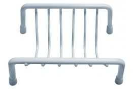 Soap basket, White Epoxy-coated Steel, 130 x 80 x 60 mm, Ø 5 mm