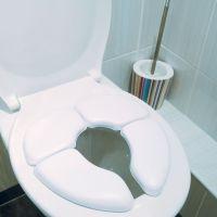 Réducteur de toilette pliant, blancplié : longueur 18.5 cm - largeur 16.5 cm - hauteur : 11,5 cm