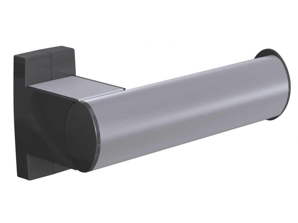 Dérouleur Papier Wc Metal design15 toilet roll holder, mat grey epoxy-coated aluminium