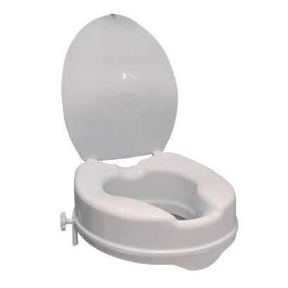 Réhausse pour cuvette WC standard, Polyéthylène Blanc