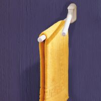 Porte-serviettes, 455 x 105 x 60 mm, ABS Blanc