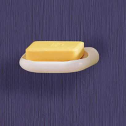 Soap holder, White ABS, 145 x 40 x 100 mm