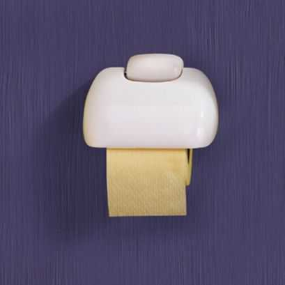 Toilet roll holder, White ABS, 175 x 50 x 135 mm