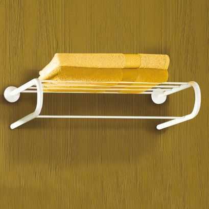 Towel rack, White Epoxy-coated Steel, 550 mm