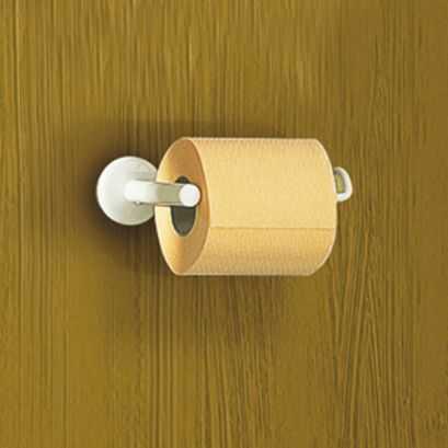 Distributeur papier WC, Acier Epoxy Blanc