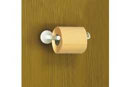 Toilet roll holder, White Epoxy-coated Steel