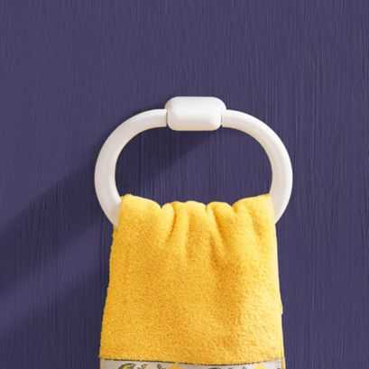 Towel ring, White ABS, 260 x 190 x 60 mm